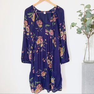 •Old Navy• Tassel-Tie Floral Dress.